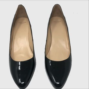 Cole Haan Grand Os  patent leather wedges